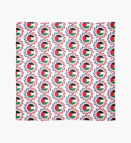Palestinian American Multinational Patriot Flag Series Scarf