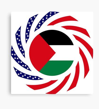 Palestinian American Multinational Patriot Flag Series Canvas Print