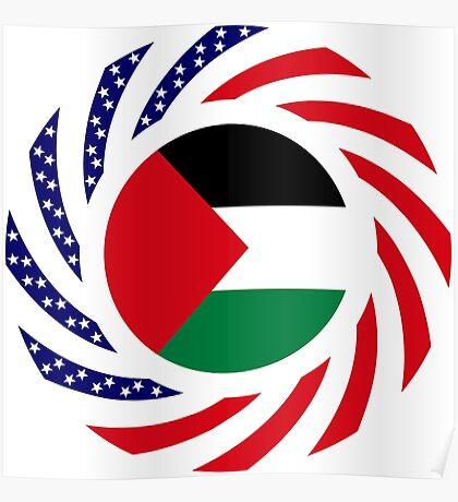 Palestinian American Multinational Patriot Flag Series Poster