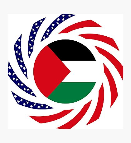 Palestinian American Multinational Patriot Flag Series Photographic Print