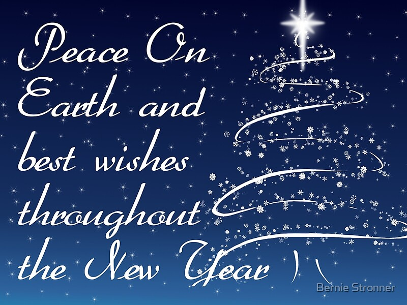 Quot Peace On Earth And Best Wishes Throughout The New Year