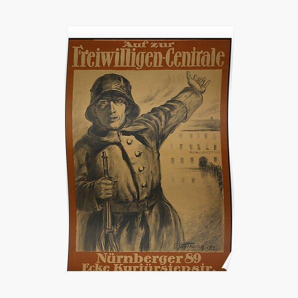 Freikorps Volunteer Recruiting, Berlin 1919  Poster
