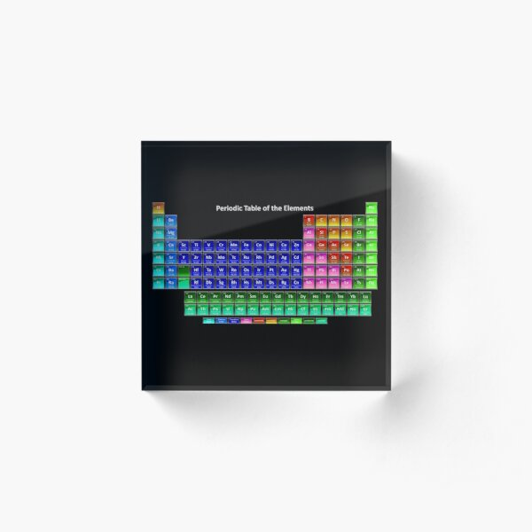#Mendeleev's #periodic #table of the #elements Acrylic Block