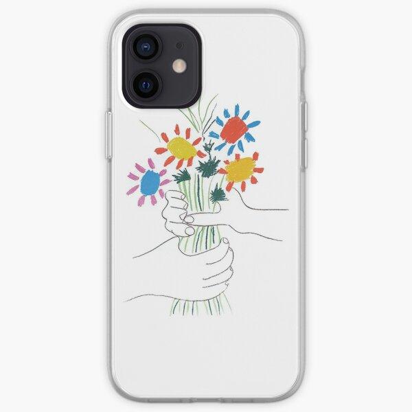 Mains avec des fleurs - Picasso Coque souple iPhone