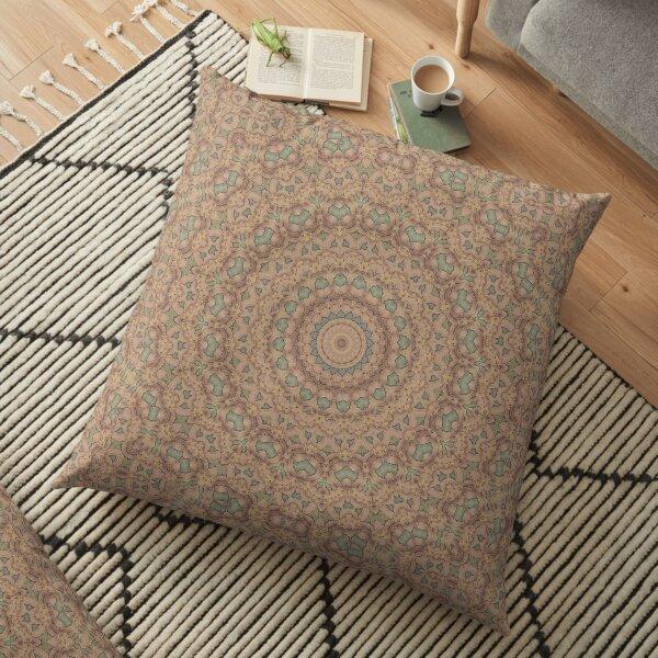 Flower Mandalal_MG_2221 dull pastel Floor Pillow