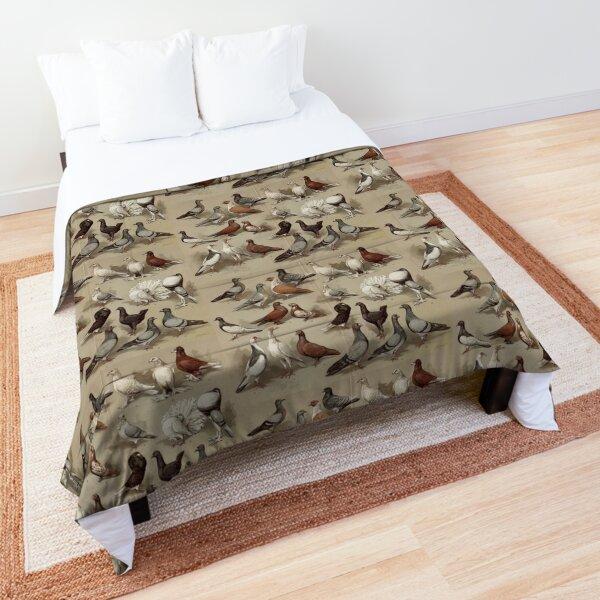 Pigeon Breeds Chart Comforter
