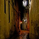 Street at Night - Maglia, Italy by Debbie Pinard