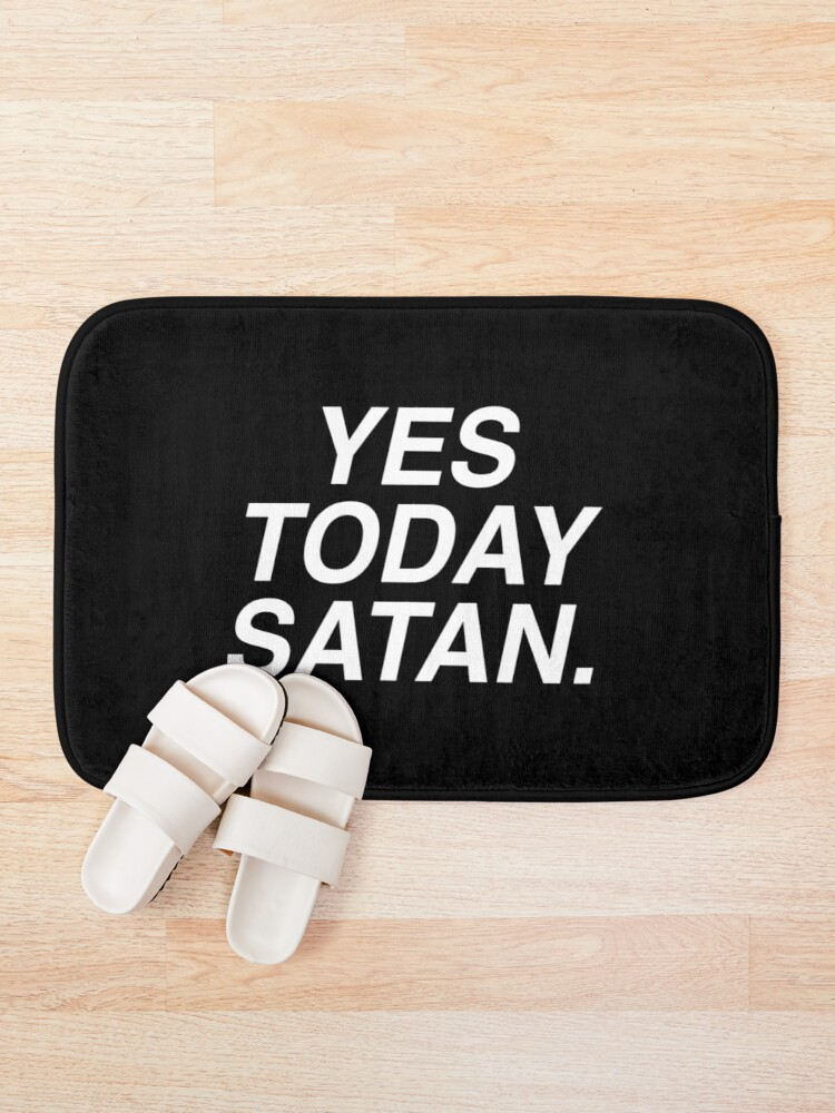 Alternate view of Yes Today Satan Bath Mat