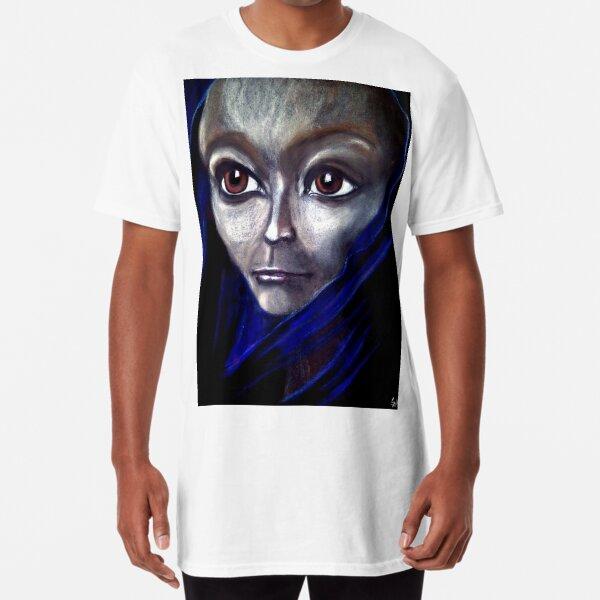 Jrooti's Blue Silk Scarf Long T-Shirt