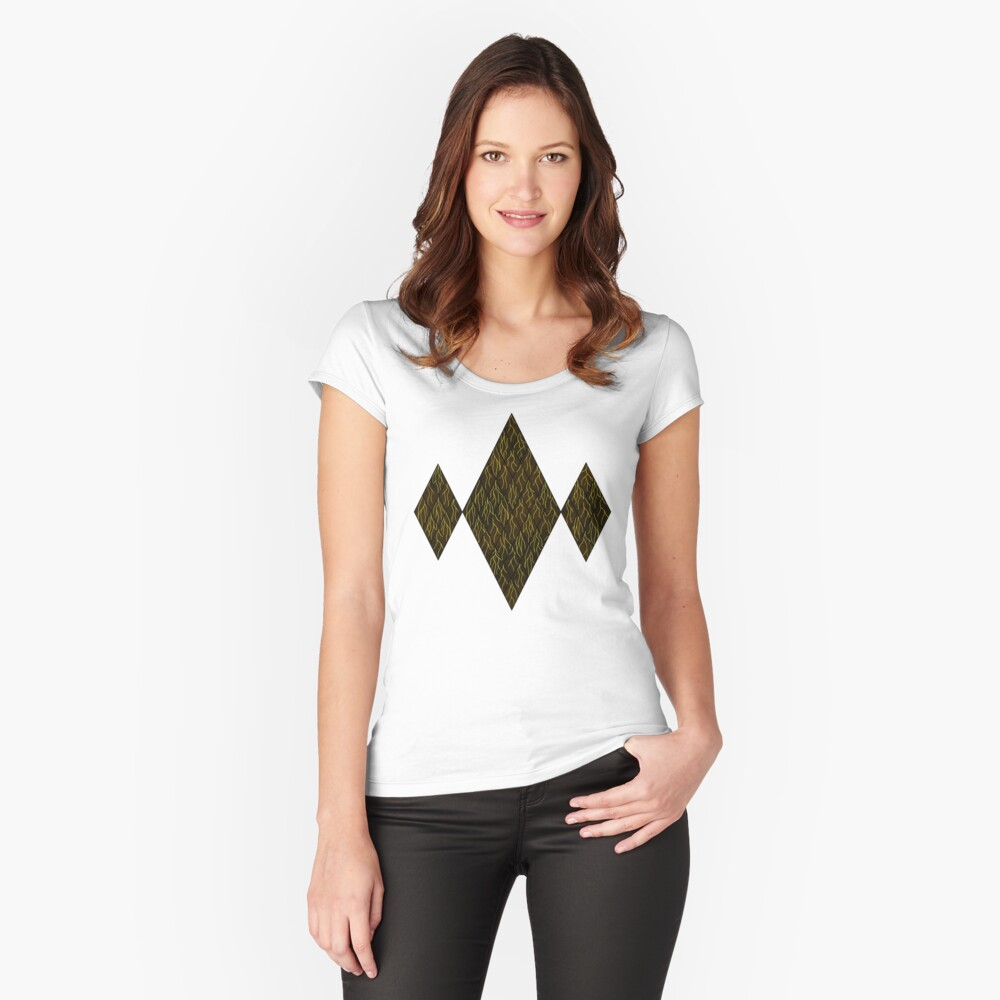 Earthen Scales, Golden Streams Fitted Scoop T-Shirt