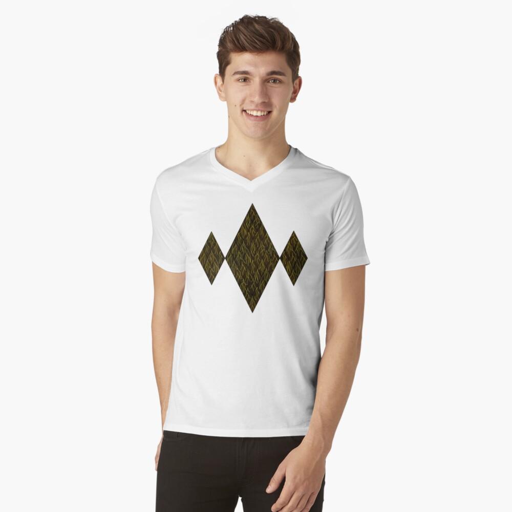 Earthen Scales, Golden Streams V-Neck T-Shirt