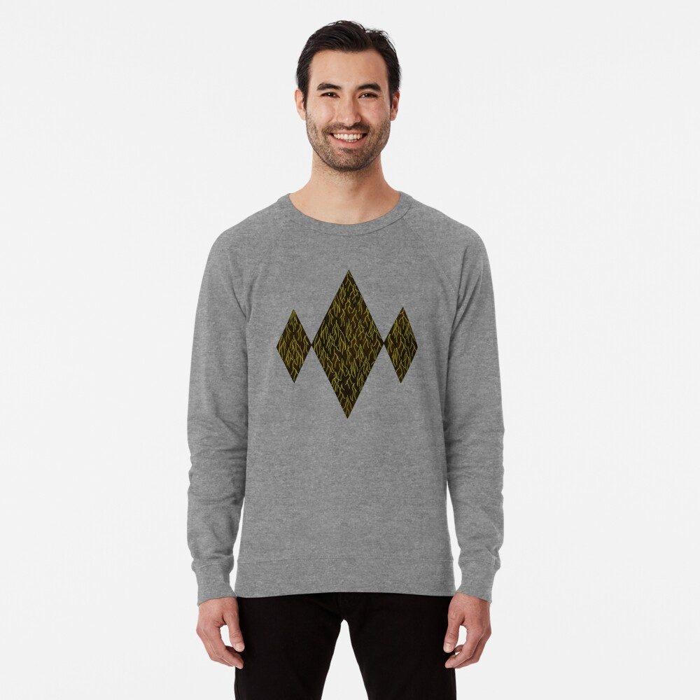 Earthen Scales, Golden Streams Lightweight Sweatshirt