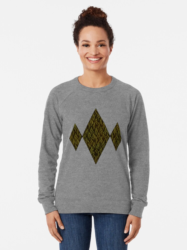 Alternate view of Earthen Scales, Golden Streams Lightweight Sweatshirt