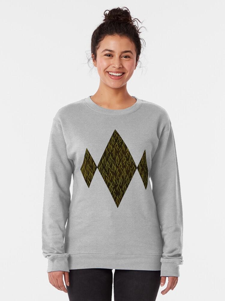 Alternate view of Earthen Scales, Golden Streams Pullover Sweatshirt