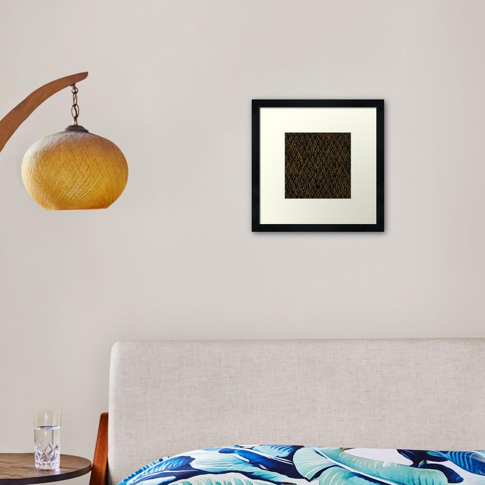 Earthen Scales, Golden Streams Framed Art Print