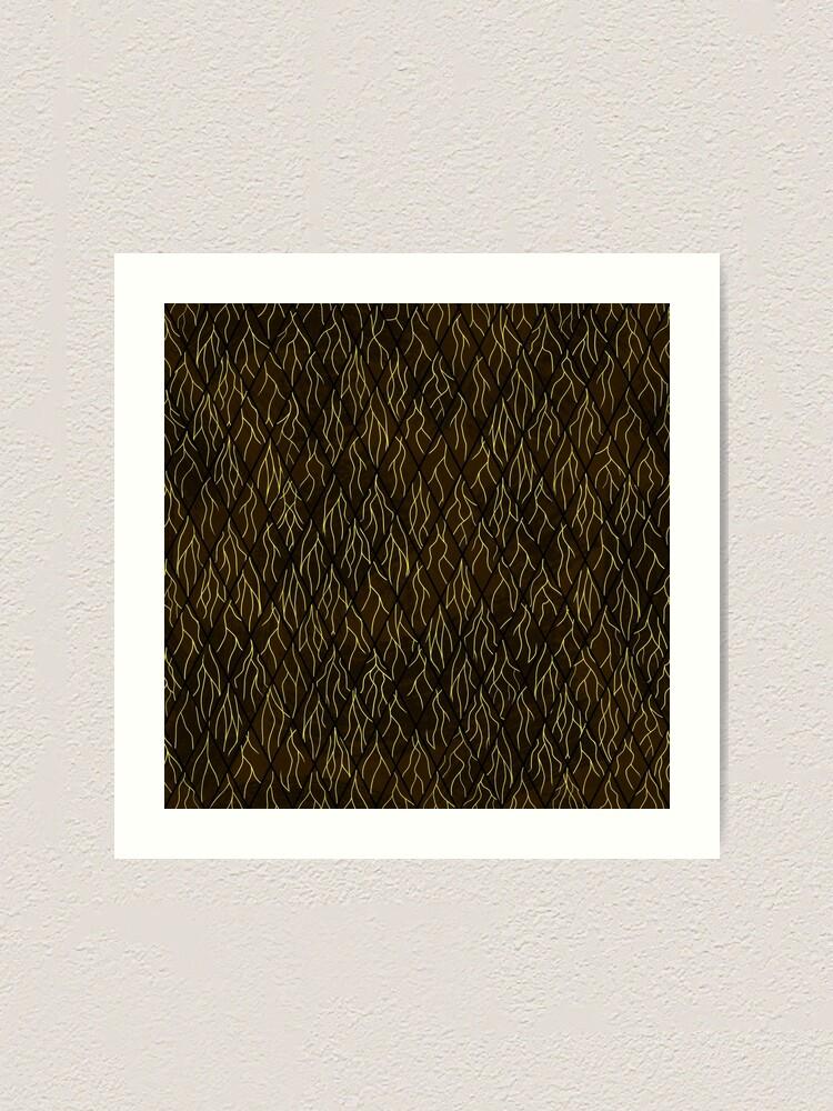 Alternate view of Earthen Scales, Golden Streams Art Print