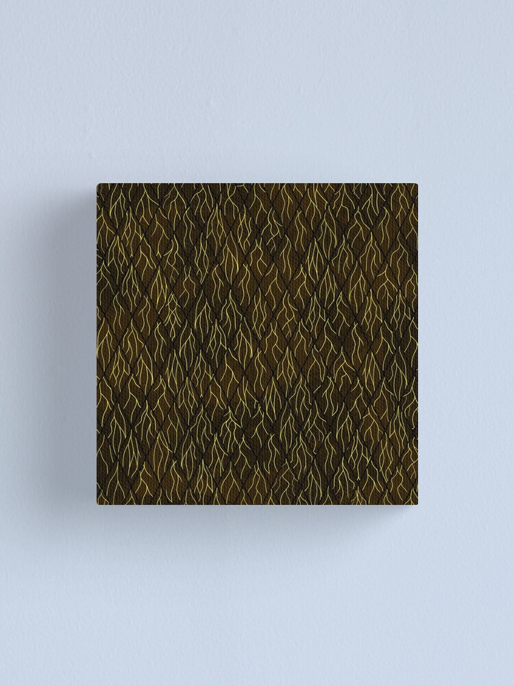 Alternate view of Earthen Scales, Golden Streams Canvas Print