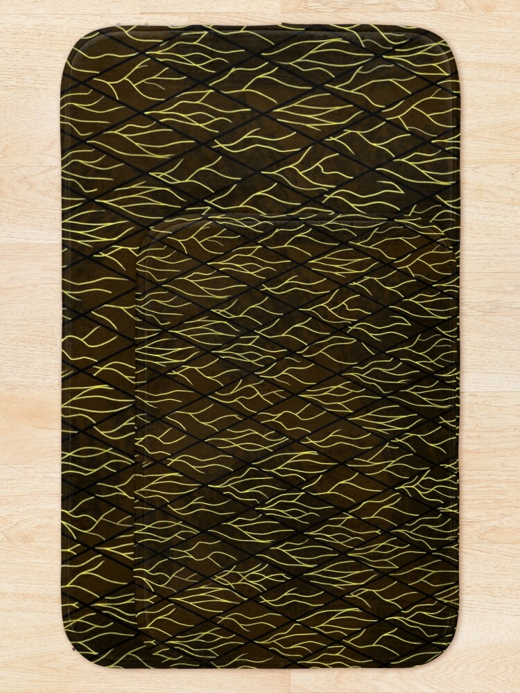 Alternate view of Earthen Scales, Golden Streams Bath Mat