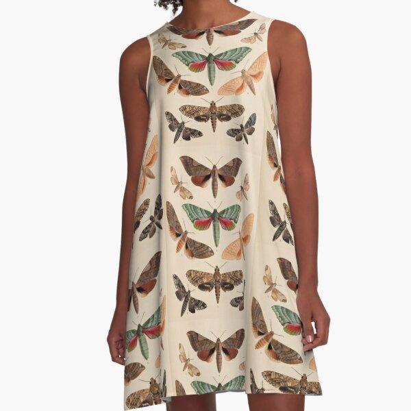Naturalist Moths A-Line Dress