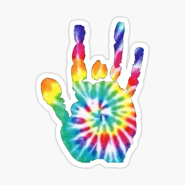 Tie Dye Jerry Garcia Handprint  Sticker