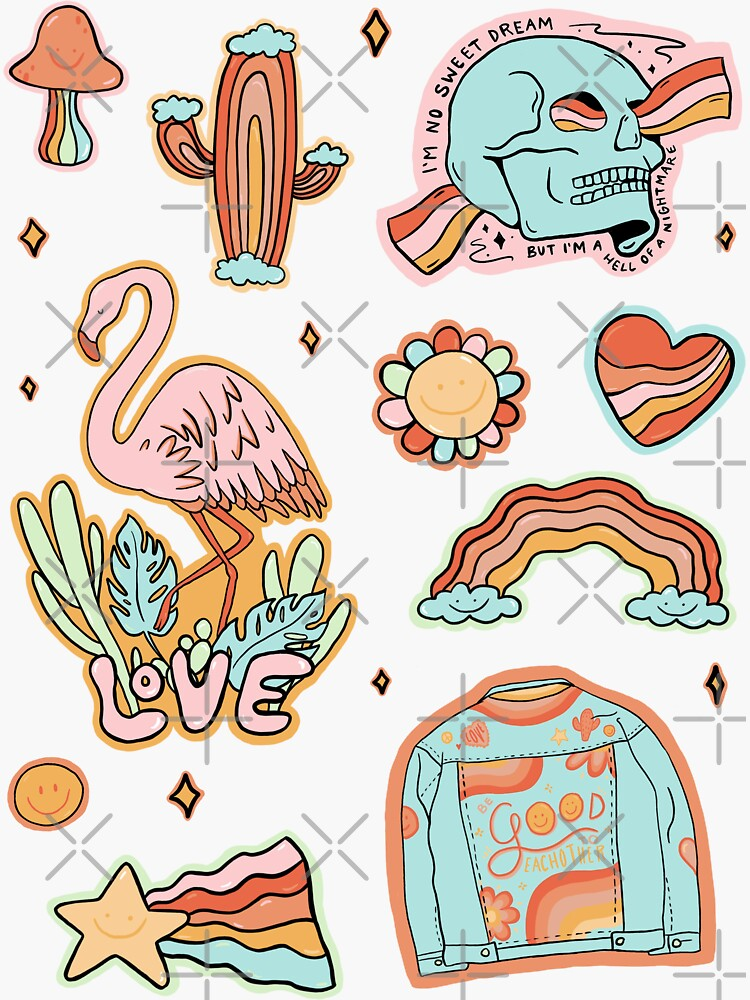 Rainbow Sticker Sheet by doodlebymeg