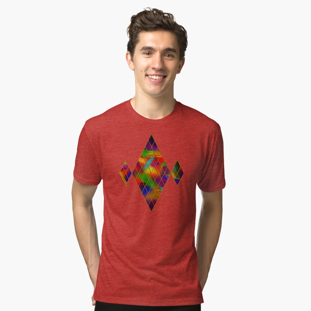 Golden Diamonds, Rainbow Void Tri-blend T-Shirt