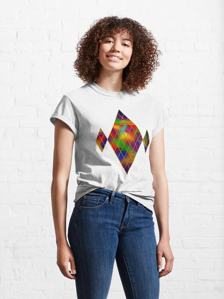 Alternate view of Golden Diamonds, Rainbow Void Classic T-Shirt