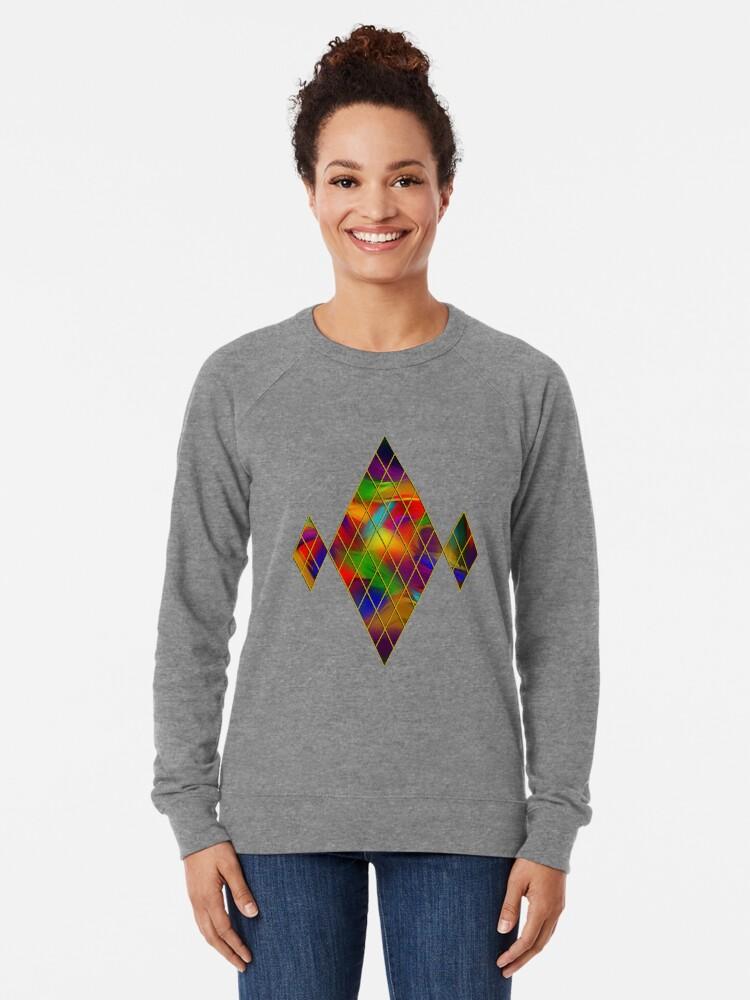 Alternate view of Golden Diamonds, Rainbow Void Lightweight Sweatshirt