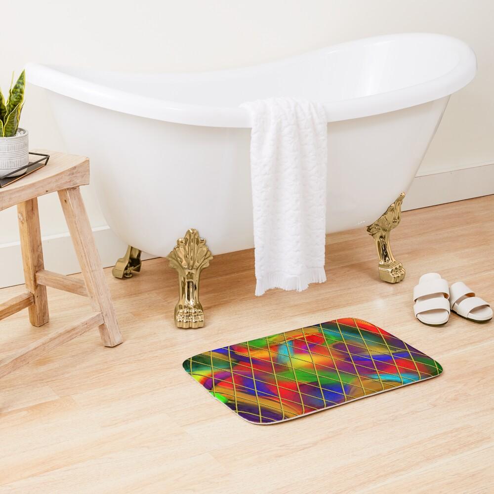 Golden Diamonds, Rainbow Void Bath Mat