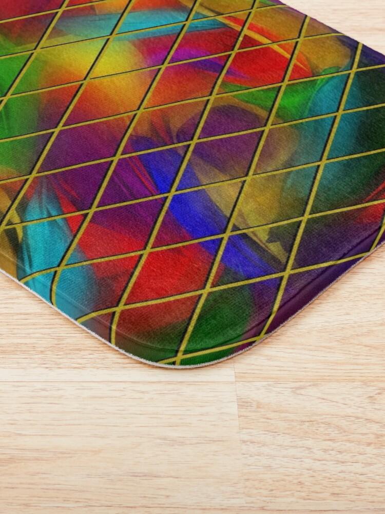 Alternate view of Golden Diamonds, Rainbow Void Bath Mat