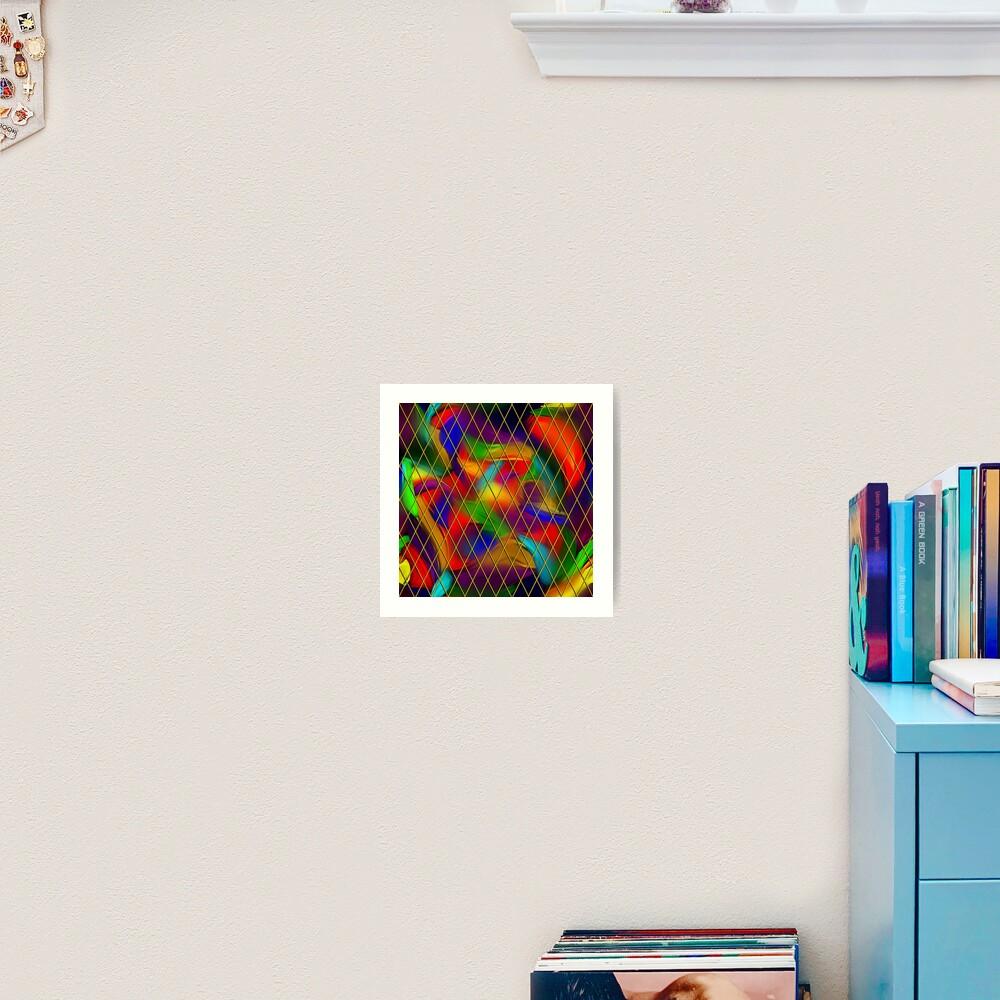 Golden Diamonds, Rainbow Void Art Print