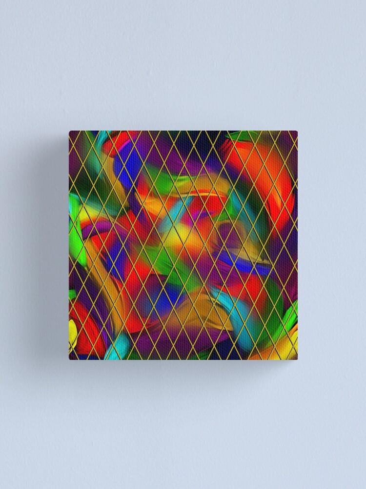 Alternate view of Golden Diamonds, Rainbow Void Canvas Print