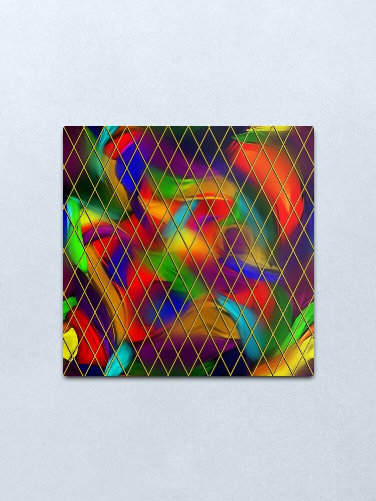 Alternate view of Golden Diamonds, Rainbow Void Metal Print