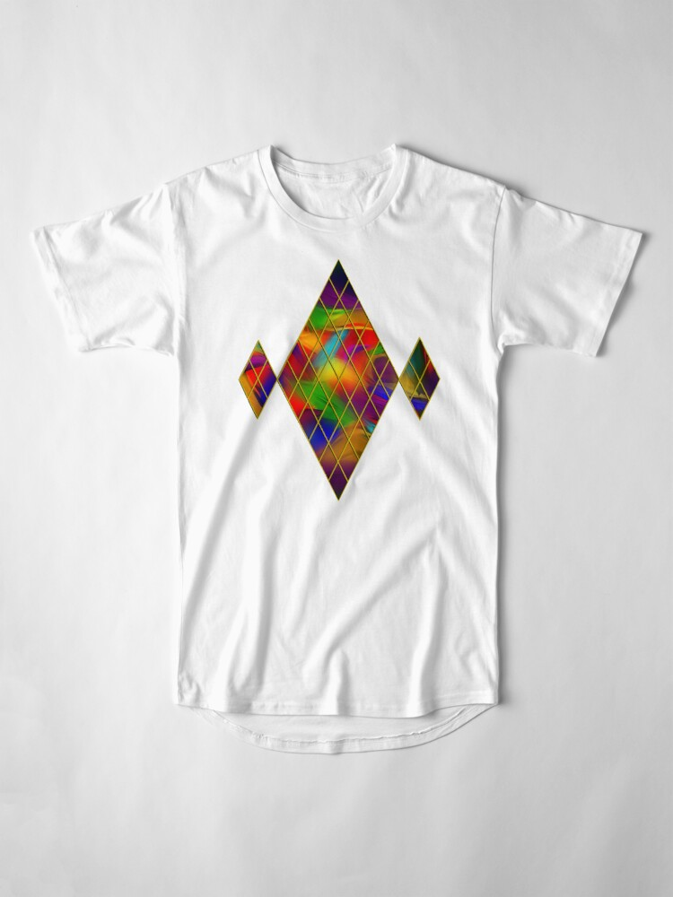 Alternate view of Golden Diamonds, Rainbow Void Long T-Shirt