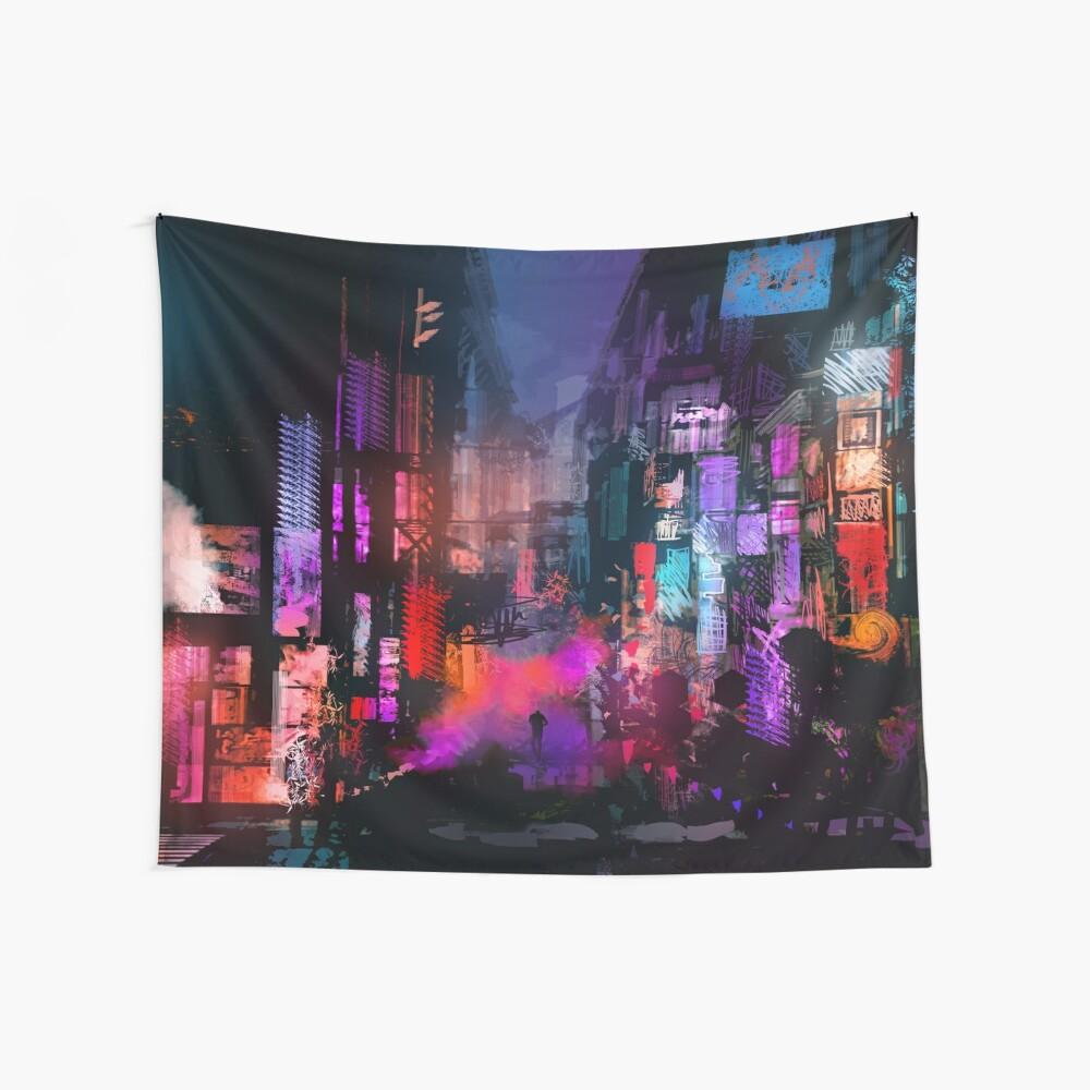 In der Nacht entfesselt Wandbehang