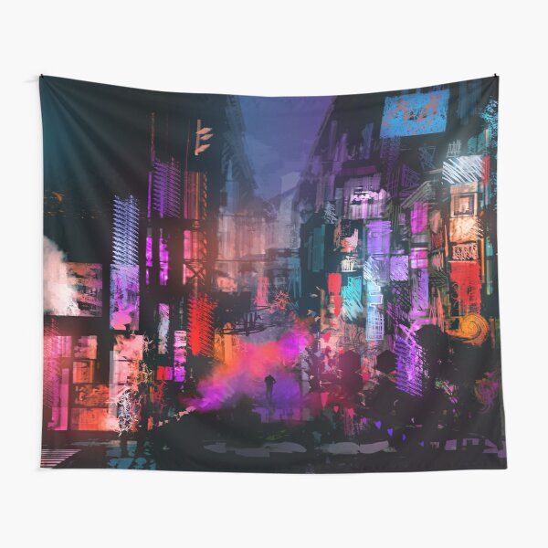 Unleashed at Night Tapestry