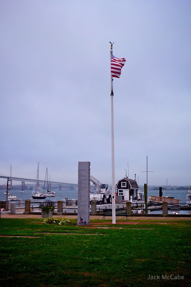 The Harbor in Jametown - Rhode Island by Jack McCabe