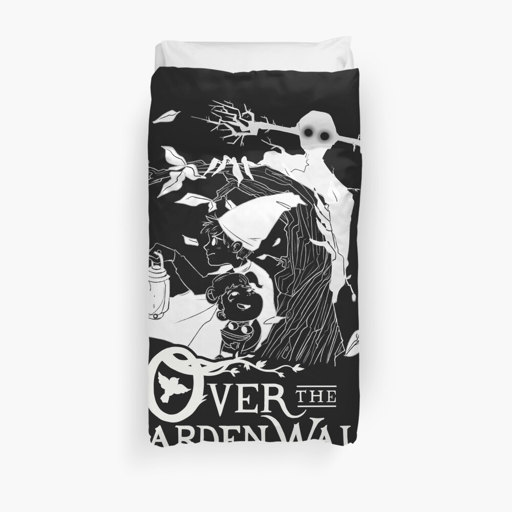 Over the garden wall - Lost in the woods Negative Version Duvet Cover