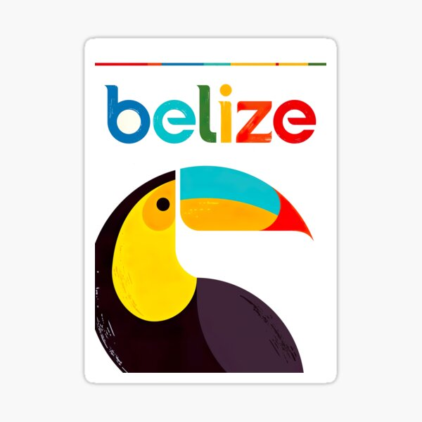 Belize Retro Vintage Travel Poster Sticker