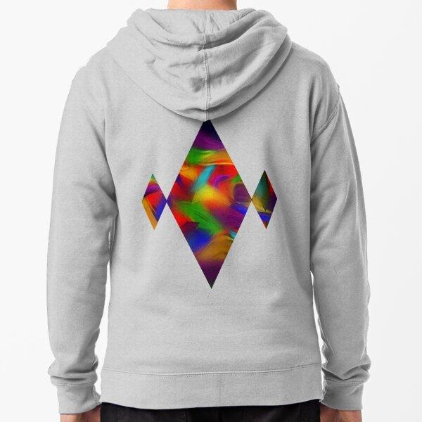 Rainbow Dapple Zipped Hoodie
