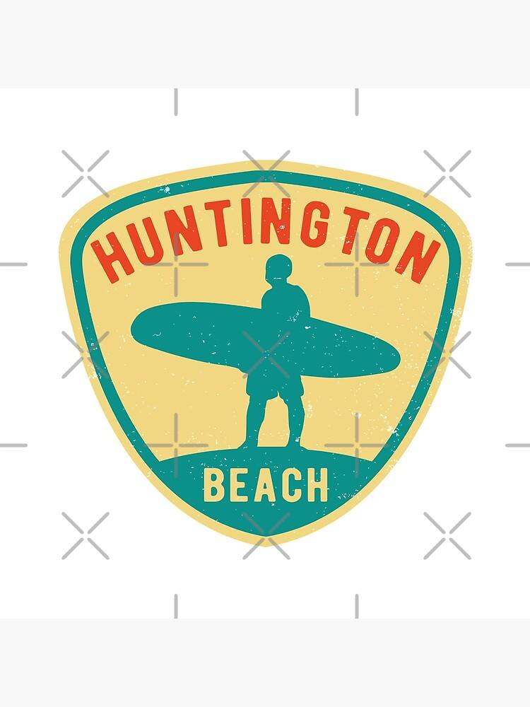 Rétro planche de surf surf huntington beach california 1967 voiture caravane autocollant