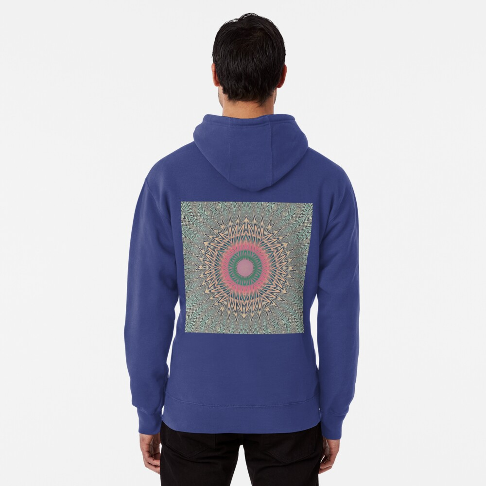 Motif, Visual, #Art, #Circle, #2D #Shape, pattern, abstract, decoration, design, illustration, ornate Pullover Hoodie