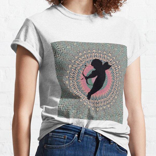 #Silhouette #Cupidon, #Motif, #Visual, #Art, #Circle, 2D Shape, pattern, abstract, decoration, design Classic T-Shirt