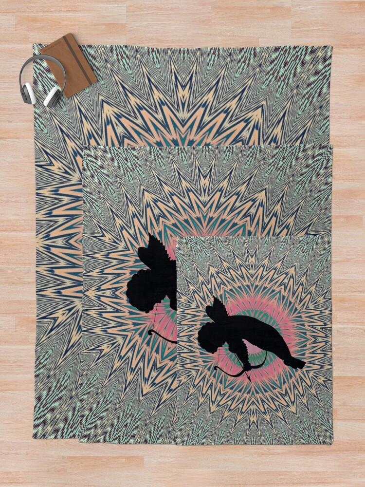 Alternate view of #Silhouette #Cupidon, #Motif, #Visual, #Art, #Circle, 2D Shape, pattern, abstract, decoration, design Throw Blanket