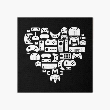 Controller Lover - For Old School Gamers! Classic Video Games Art Board Print