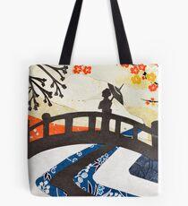 Geisha on Bridge Tote Bag