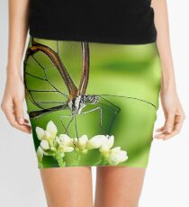 Glasswing Butterfly Visit Mini Skirt