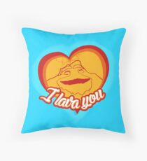 I Lava You (Heart) Throw Pillow