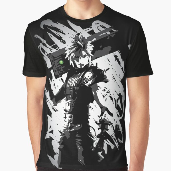 'Materia Buster' FFVII Remake Cloud Strife Graphic T-Shirt