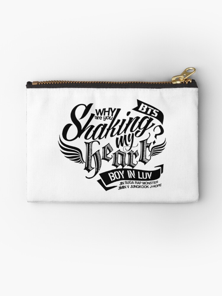 Bts Boy In Luv Zipper Pouch By Skeletonvenus Redbubble